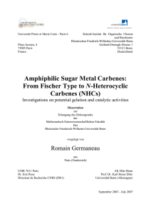 Amphiphilic Sugar Metal Carbenes