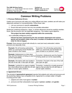 Common Writing Problems