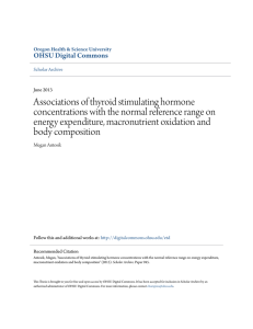 Associations of thyroid stimulating hormone concentrations with the