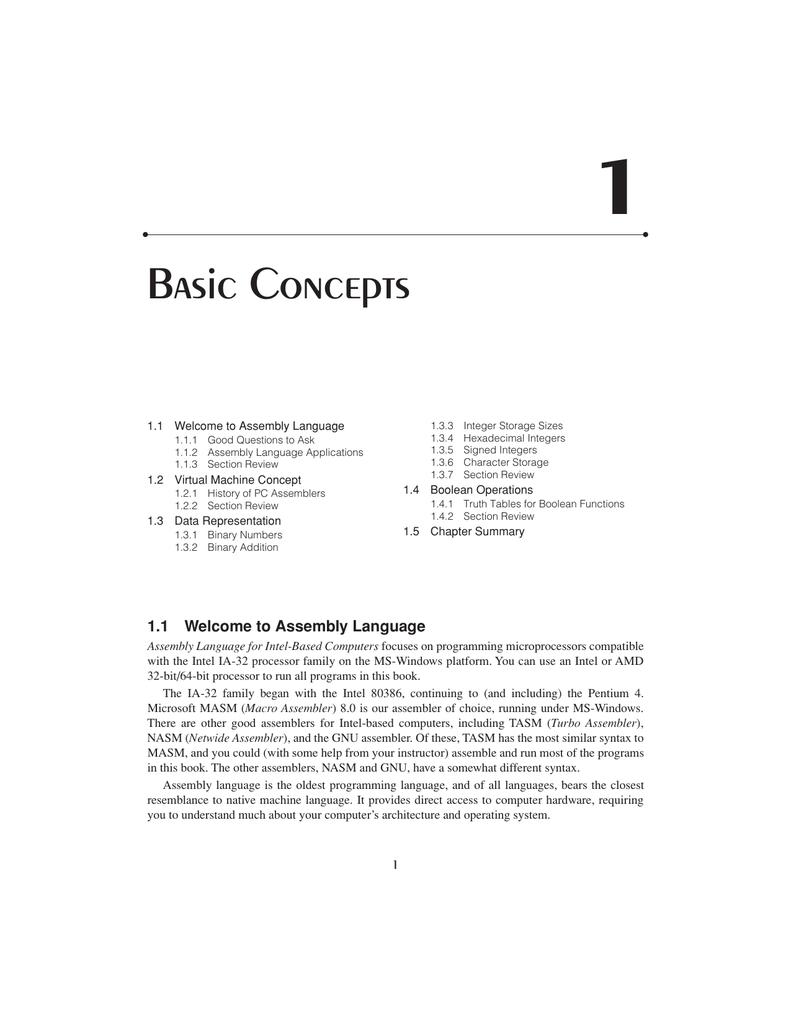 Basic Concepts - DePaul University