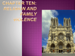 Chapter Ten: Religion and Family Violence Key