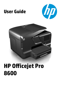 HP Officejet Pro 8600 User Guide– ENWW