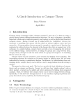 A Gentle Introduction to Category Theory