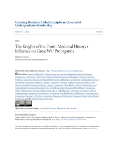 The Knights of the Front: Medieval History`s Influence on Great War