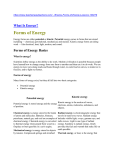 Forms of Energy Basics