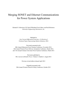Merging SONET and Ethernet Communications for Power System