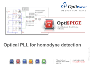 Optical PLL for homodyne detection