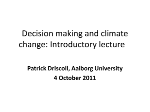 Decision making and climate change