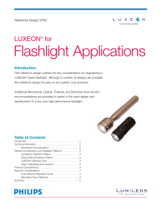Luxeon® for Flashlight Applications