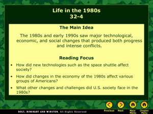 Lesson 32-4: Life in the 1980`s