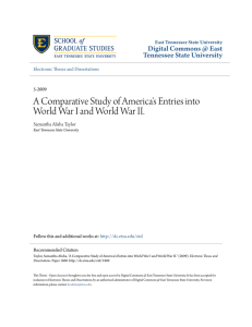 A Comparative Study of America`s Entries into World War I and