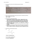CH 115 Fall 2014Worksheet 14 Draw the Lewis structures for the