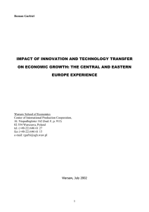 IMPACT OF INNOVATION AND TECHNOLOGY TRANSFER ON