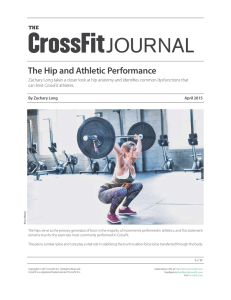 Hips and Athletic Performance in CrossFit Journal