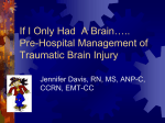 Pre-Hospital Management of Traumatic Brain Injury