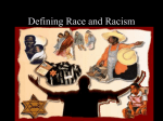 Defining Race and Racism