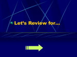 Let`s Review for…