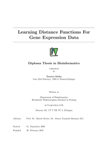 Learning Distance Functions For Gene Expression Data
