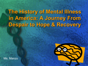The History of Mental Illness in America