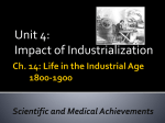 Life in the Industrial Age 1800-1900 Sec. 2 Scientific and Medical