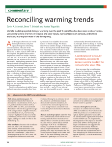 Reconciling warming trends