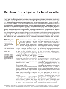 Botulinum Toxin Injection for Facial Wrinkles