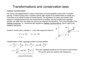 Transformations and conservation laws