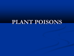 PLANT POISONS