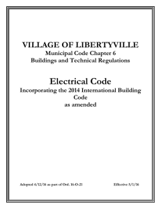 Electrical Code - Village of Libertyville