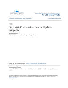 Geometric Constructions from an Algebraic Perspective