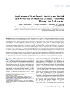 Implications of Host Genetic Variation on the Risk and