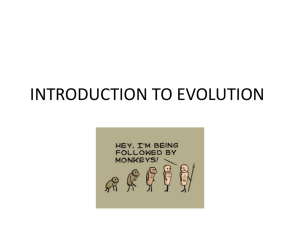 introduction to evolution - Fall River Public Schools