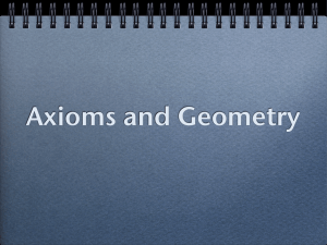 Introduction to the Axiomatic Method