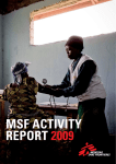 MSF Activity RepoRt 2009