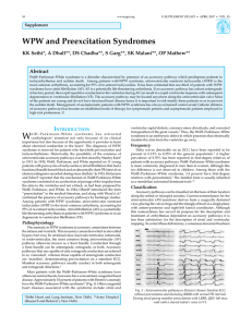 WPW and Preexcitation Syndromes