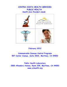 Communicable Disease General Information 925- 313-6740