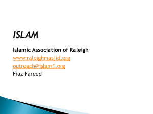 Brief introduction to Islam