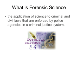 Crime Scene Protocol - Ms. Roderick`s Forensic Science