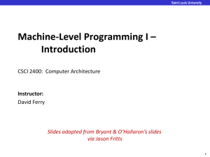 Machine-Level Programming