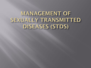 Management of sexually transmitted diseases