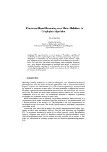 Constraint Based Reasoning over Mutex Relations in Graphplan