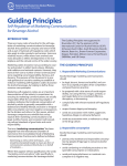 Guiding Principles: Self-Regulation of Marketing Communications