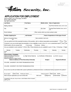 nana`s employment application instructions