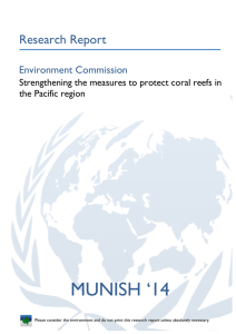 Strengthening the measures to protect coral reefs in the