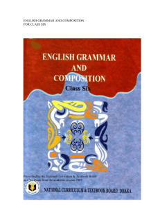 ENGLISH GRAMMAR AND COMPOSITION FOR CLASS SIX
