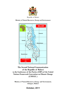 The Second National Communication of the Republic of Malawi