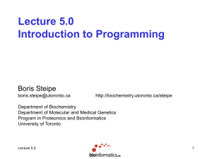 PPT - Bioinformatics.ca