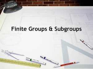 Finite groups