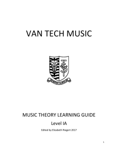 VAN TECH MUSIC THEORY Package – IA