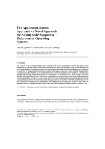 The Application Kernel Approach - a Novel Approach for Adding